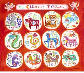 chinese zodiac wall art