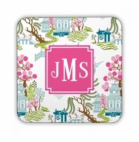 Chinoiserie Spring Square Coaster