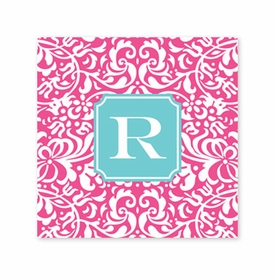 chloe raspberry coaster square paper coaster<br>set of 50