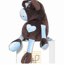chocolate and blue pig by moncalin
