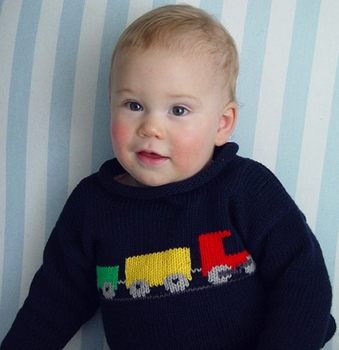 choo choo train cotton sweater - unavailable