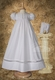 christening dress with organza ruching