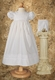 christening dress with rose lace