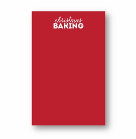 Christmas Baking Large Notepad