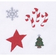 christmas bib and burp cloth set