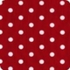 christmas candy dot apron - white with red dots
