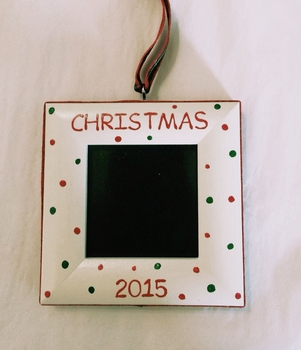 christmas dot custom ornament