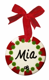 christmas mint christmas ornament