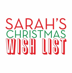 christmas wish list Notepad