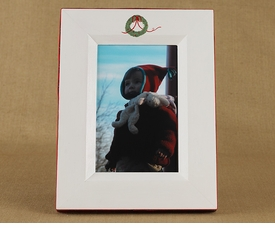 christmas wreath picture frame