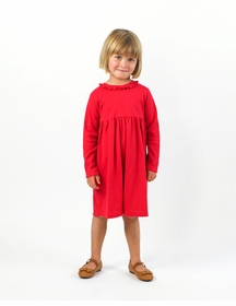 cici knit dress - red