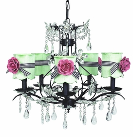 cinderella chandelier in black with shades