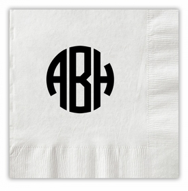 Circle Monogram Napkins
