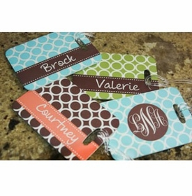 clairebella personalized luggage tags