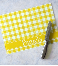 clairebella personalized rectangle glass cutting boards