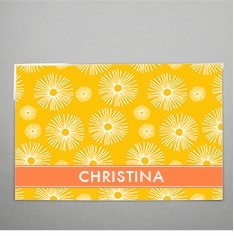clairebella personalized wipe clean placemats