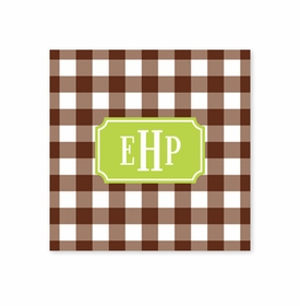 classic check chocolate coaster square paper coaster<br>set of 50