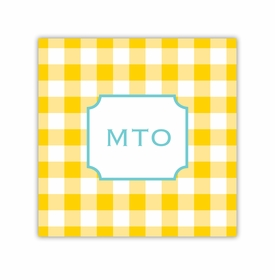 classic check sunflower coaster square paper coaster<br>set of 50