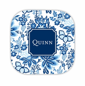 classic floral blue coaster hardback rounded coaster<br>(set of 4)