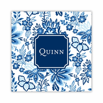 classic floral blue coaster square paper coaster<br>set of 50