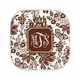 classic floral brown coaster hardback rounded coaster<br>(set of 4)