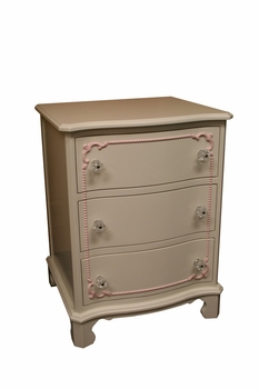 classic nightstand with beading