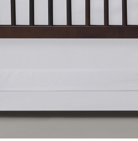 clean and simple white crib bedding