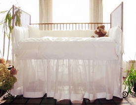 cloud crib skirt