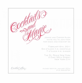 cocktail calligraphy invitation