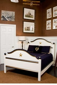 cody bed with appliqued star mouldings - twin