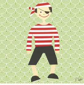 collage pirate boy wall art