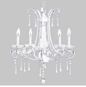 colleen chandelier - white