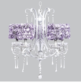 colleen white chandelier - lavender rose garden shades