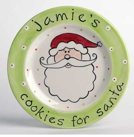 cookies for santa plate - santa face