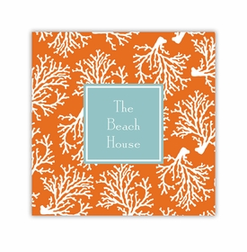 coral repeat coaster square paper coaster<br>set of 50