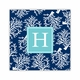 coral repeat navy coaster square paper coaster<br>set of 50