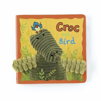 cordy croc and bird board book by jelly cat