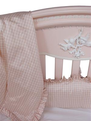 Cosette Gingham Crib Bedding By Art For Kids Afk