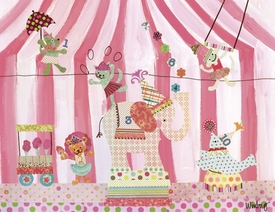 cotton candy counting circus wall art