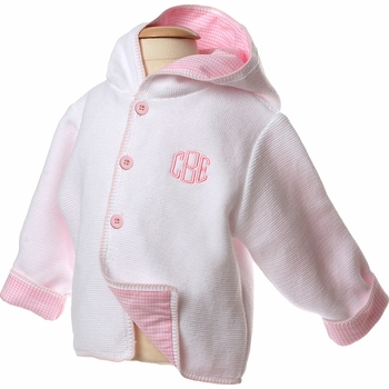 cotton hooded sweater jacket (pink)