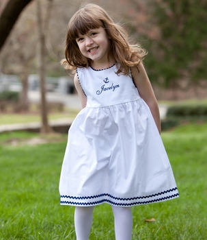 cotton pique anchor dress