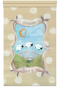 count the sheep sandy beige personalized wall hanging