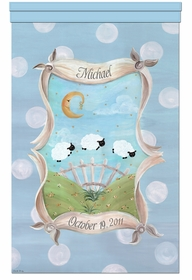 count the sheep tranquil blue personalized wall hanging