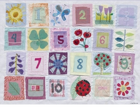 counting flowers wall art