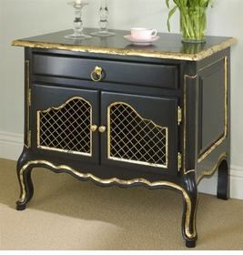 country french night table (black -  gilding)