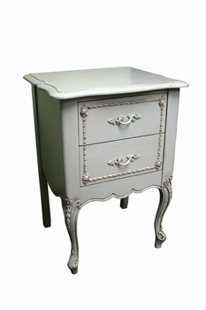 country french two drawer night stand