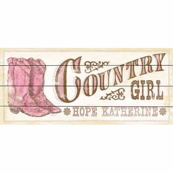 country girl vintage sign