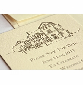 country side wedding save the date card