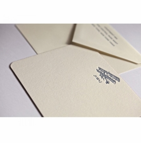 couture collection vintage plane note cards