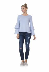 cozy for cashmere light blue sweater